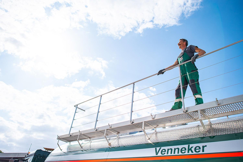 Venneker Natur mit Schüttguttransport und Gülle Transport am 19.08.2019 in Oberhausen und Ascheberg